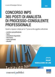 Lpgcsostenible.es Concorso INPS. 365 posti di analista di processo-consulente professionale. Quesiti a risposta multipla per la 1ª prova scritta oggettivo-attitudinale Image