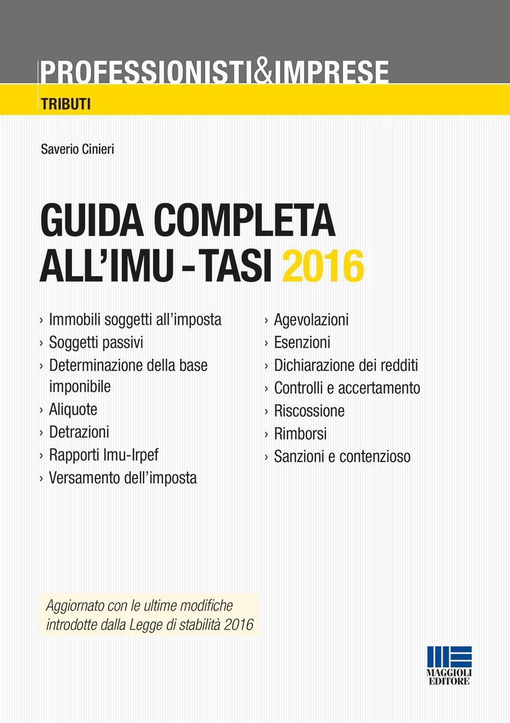 Guida completa all'IMU-Tasi 2016