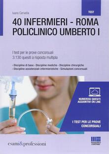 Premioquesti.it 40 infermieri. Roma policlinico Umberto I. I test per le prove concorsuali Image