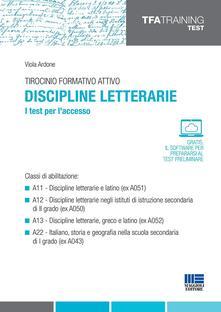 Cefalufilmfestival.it Tirocinio formativo attivo. Discipline letterarie. I test per l'accesso Image