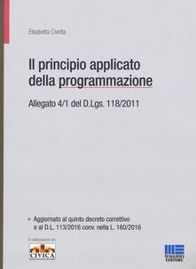 Grandtoureventi.it Il principio contabile applicato della programmazione. Allegato 4/1 del D. Lgs. 118/2011 Image