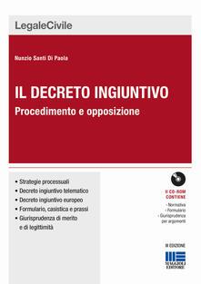 Nicocaradonna.it Il decreto ingiuntivo. Procedimento e opposizione. Con CD-ROM Image