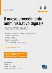 Charun.it Il nuovo procedimento amministrativo digitale. Con CD-ROM Image