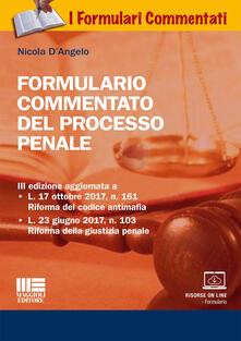 Equilibrifestival.it Formulario commentato del processo penale. Con CD-ROM Image