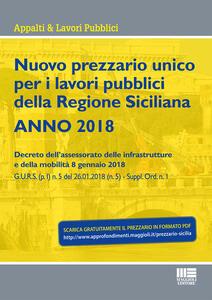 Nuovo prezzario unico regionale per i lavori pubblici della Regione Sicilia 2018