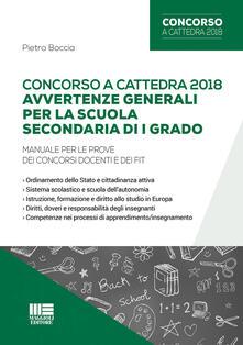 Concorso a cattedra 2018. Avvertenze generali per la scuola secondaria di I grado. Manuale per le prove dei concorsi docenti e dei FIT.pdf