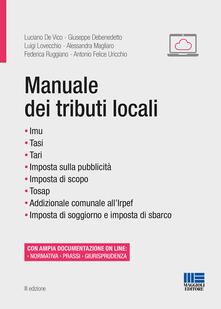 Manuale dei tributi locali - copertina
