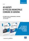 Kit 40 agenti di polizia municipale comune di Genova