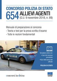 Vitalitart.it Concorso Polizia di Stato. 654 allievi agenti. Manuale di preparazione al concorso. Con simulatore online Image