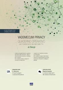 Atomicabionda-ilfilm.it Vademecum Privacy. Quaderno operativo per il trattamento dei dati nella PA (2019). Con Contenuto digitale per accesso on line. Vol. 6 Image