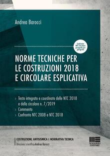 Norme tecniche per le costruzioni 2018 e circolare esplicativa - Andrea Barocci - copertina