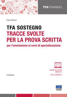 Listadelpopolo.it TFA sostegno. Tracce svolte per la prova scritta per l'ammissione ai corsi di specializzazione Image