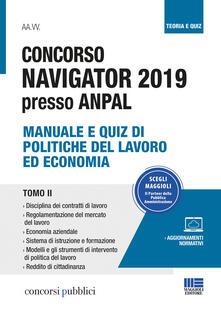 Osteriacasadimare.it Concorso Navigator 2019 presso ANPAL. Vol. 2: Manuale e quiz di politiche del lavoro ed economia. Image