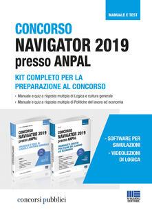 Concorso Navigator 2019 presso ANPAL. Kit completo per la preparazione al concorso - copertina