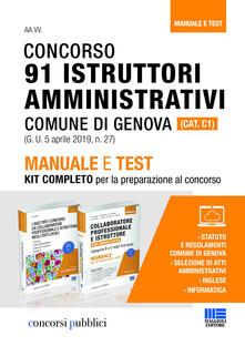 Voluntariadobaleares2014.es Concorso 91 istruttori amministrativi Comune di Genova (Cat. C1). Manuale e test. Kit completo per la preparazione al concorso Image