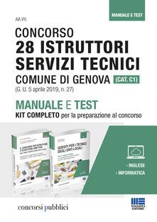 Radiospeed.it Concorso 28 istruttori servizi tecnici Comune di Genova (Cat. C1). Manuale e test. Kit completo per la preparazione al concorso Image