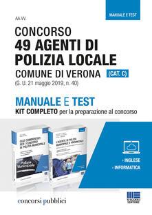 Promoartpalermo.it Concorso 49 agenti di polizia locale comune di Verona (Cat. C). Manuale e test. Kit completo per la preparazione al concorso Image