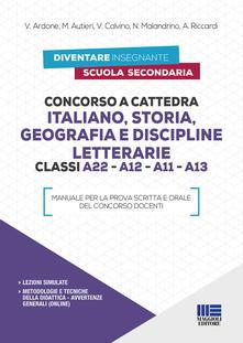 Ristorantezintonio.it Concorso a cattedra Italiano, Storia, Geografia e Discipline letterarie Classi A22 - A12 - A11 - A13 Image