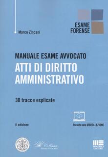 Premioquesti.it Manuale esame avvocato. Atti di diritto amministrativo. 30 tracce esplicate Image