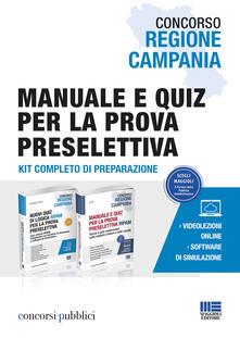 Vitalitart.it Concorso Regione Campania. Manuale e quiz per la prova preselettiva. Con software di simulazione Image