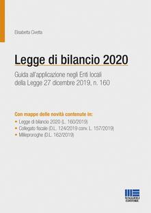 Steamcon.it Legge di bilancio 2020. Guida all'applicazione negli enti locali della Legge 27 dicembre 2019, n. 160 Image