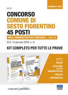Radiospeed.it Concorso Comune di Sesto Fiorentino 45 posti Area amministrativo-contabile Cat. C1 (G.U. 14 gennaio 2020, n. 4). Kit completo per tutte le prove Image