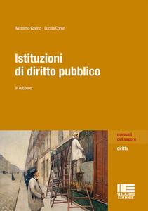 Libro Istituzioni di diritto pubblico Massimo Cavino Lucilla Conte