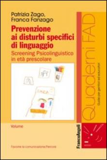 Radiospeed.it Prevenzione ai disturbi specifici di linguaggio. Screening psicolinguistico in età prescolare Image