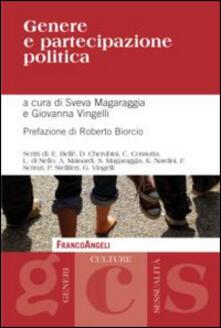 Genere e partecipazione politica - copertina