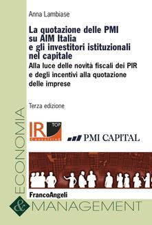 Antondemarirreguera.es La quotazione delle PMI su AIM Italia e gli investitori istituzionali nel capitale Image