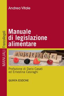 Associazionelabirinto.it Manuale di legislazione alimentare Image