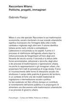 Raccontare Milano. Politiche, progetti, immaginari