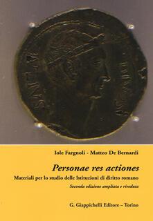 Parcoarenas.it Personae res actiones. Materiali per lo studio delle istituzioni di diritto romani Image