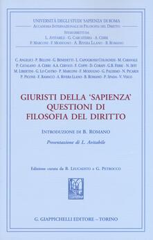 Giuristi della «Sapienza». Questioni di filosofia del diritto.pdf