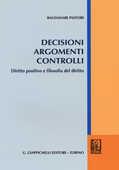 Libro Decisioni argomenti controlli. Diritto positivo e filosofia del diritto Baldassare Pastore