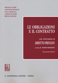 Ristorantezintonio.it Le obbligazioni e il contratto dalle «Istituzioni di diritto privato» Image