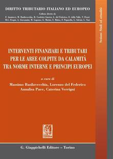 Camfeed.it Interventi finanziari e tributari per le aree colpite da calamità fra norme interne e principi europei Image