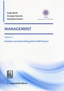 Osteriacasadimare.it Management. Vol. 2: Funzioni e processi nella gestione dell'impresa. Image