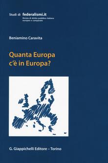 Lpgcsostenible.es Quanta Europa c'è in Europa? Profili di diritto costituzionale europeo Image