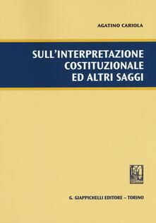 Promoartpalermo.it Sull'interpretazione costituzionale ed altri saggi Image