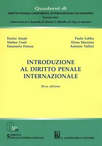 Introduzione al diritto penale internazionale - copertina