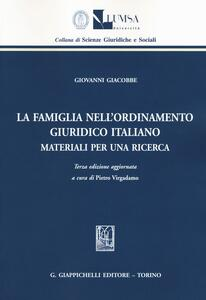 La famiglia nell'ordinamento giuridico italiano. Materiali per una ricerca