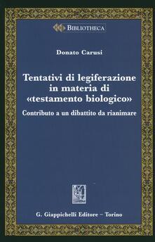 Rallydeicolliscaligeri.it Tentativi di legiferazione in materia di «testamento biologico». Contributo a un dibattito da rianimare Image