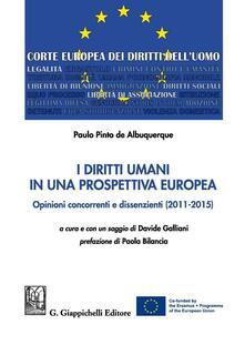 Associazionelabirinto.it I diritti umani in una prospettiva europea. Opinioni concorrenti e dissenzienti (2011-2015) Image