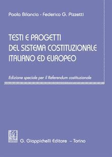 Squillogame.it Testi e progetti del sistema costituzionale italiano ed europeo. Ediz. speciale Image