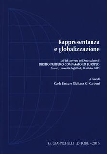 Winniearcher.com Rappresentanza e globalizzazione. Atti del Convegno dell'Associazione di diritto pubblico comparato ed europeo (Sassari, 19 ottobre 2015) Image
