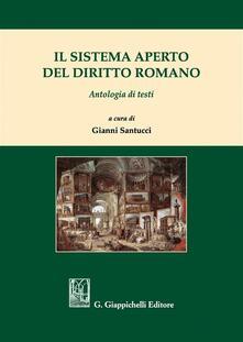 Radiospeed.it Il sistema aperto del diritto romano. Antologia di testi Image