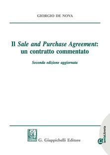 Filippodegasperi.it Il «sale and purchase agreement»: un contratto commentato. Con e-book Image