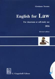 Ipabsantonioabatetrino.it English for law. For classroom or self-study use 2016 Image