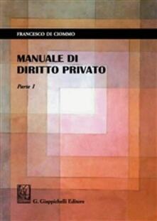 Equilibrifestival.it Manuale di diritto privato. Vol. 1 Image